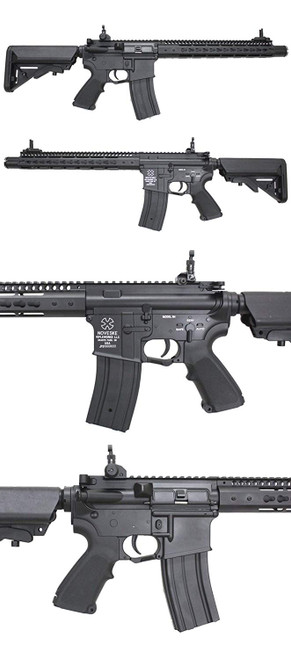 Left and right side of S&T NOVESKE NSR 13.5 Full Metal Airsoft electric rifle gun