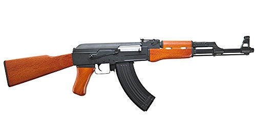 Muzzle right of CYMA AK-47 CM042 Real Wood Stock Version Airsoft electric rifle gun