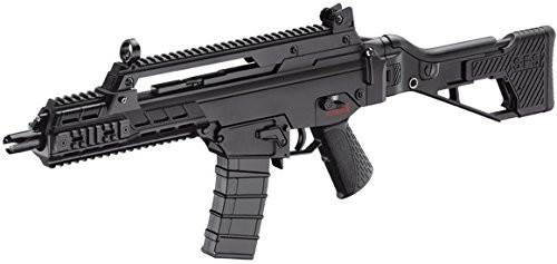 Left side of ICS G33 black Airsoft electric rifle gun