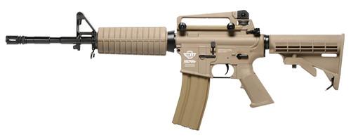 Muzzle left of G&G ARMAMENT CM16 Carbine Light desert Airsoft electric rifle gun