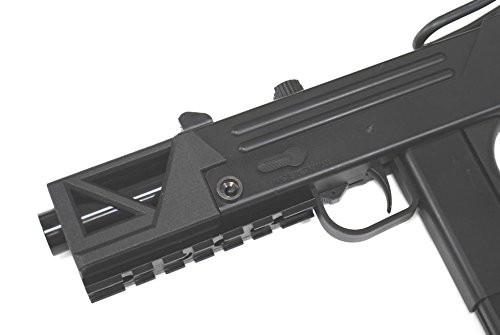 Muzzle of HFC BLADE M11 short tactical rail standard equipment type A1 GBB Airsoft sub machine gun