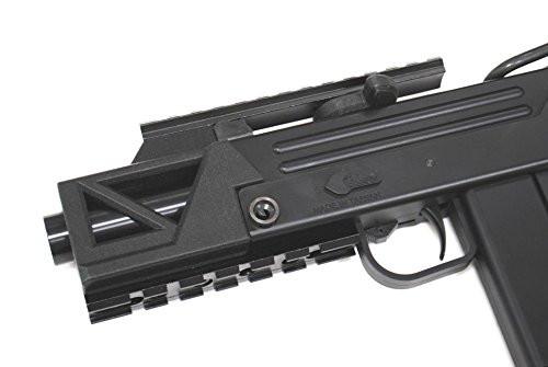 Muzzle of HFC BLADE M11 short tactical rail standard equipment type A2 GBB Airsoft sub machine gun