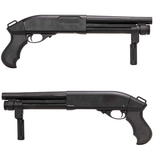 Left and right side of GOLDEN EAGLE M870 AOW Airsoft Gas Shotgun