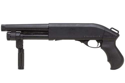 Muzzle left of APS CAM870 MK2-J Live Shell AOW Airsoft Shotgun