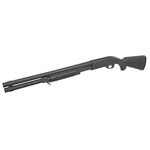 Muzzle left of S&T M870 Long Remington Model Black Airsoft shotgun