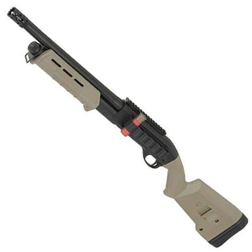Muzzle left of CYMA 356 M870 Tactical Sportsline Short Airsoft shotgun