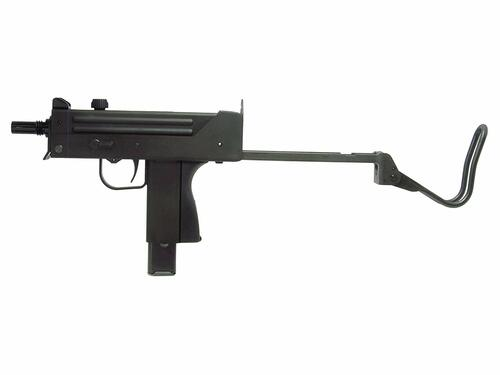Left side of Craft Apple Works Ingram M11 SubMachine Pistol HW Black Model Gun