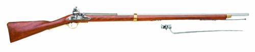Muzzle right of DENIX 1054 musket Brown Bess Model Gun