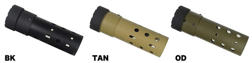 Different colors of Airsoft PRI Official GIII Round Rail 7 inch BK  and