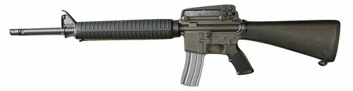 Muzzle left of BWC FN M16A4 Blowback Model Gun