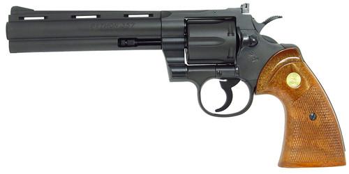 Muzzle left of Tanaka Colt Python 357magnum 6inch R-model HW Model Gun