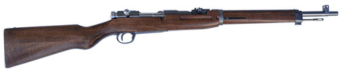 Muzzle right of Tanaka Former Japanese Army Type 38  Cavalry Carbine Version 2 Gray Steel Finish Airsoft Gas Rifle Gun
