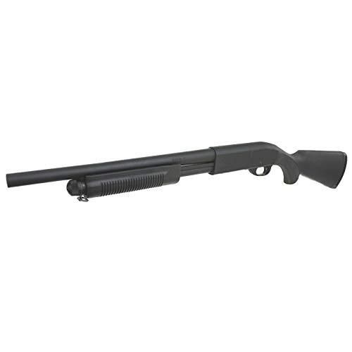 Muzzle left of S&T M870 Medium (Remington Stamp) BK Airsoft Shotgun