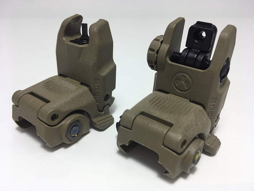MAGPUL MBUS Gen 2 Front & Rear Flip Up Sight FDE