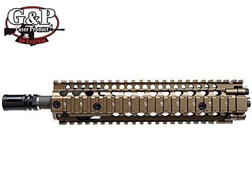 G&P Madbull Daniel Defense Licensed MK18 RIS II 9.5inch Front Conversion Kit FDE for Tokyo Marui GBB M4 Series