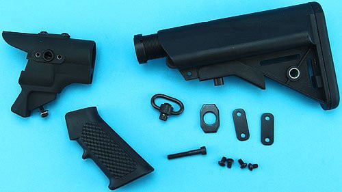G&P set of Pistol Grip & LMT Stock Set black for Maruzen CA870