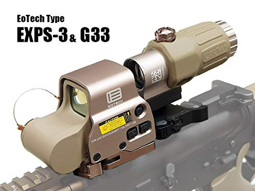 EOTech replica set of EXPS3 holosight TAN & GEN3 G33 booster with dedicated hard case