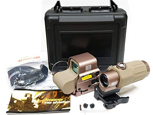 NB EOTech replica set of EXPS3 holosight TAN & GEN3 G33 booster with dedicated hard case