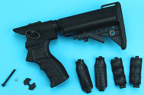 G&P Gas Charging Collapsible Stock Set BK