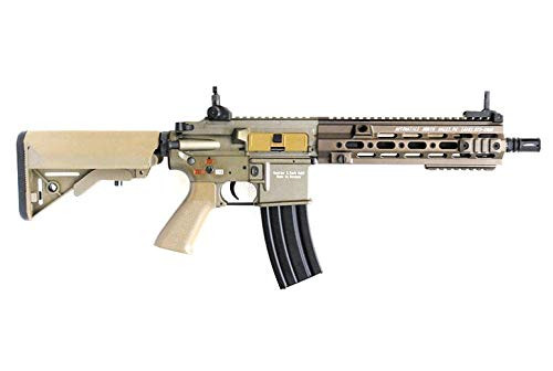 Muzzle right of DOUBLE BELL HK416 GEISSELE type 10.5inch SMR hand guard metal Airsoft Electric Gun Dark Earth