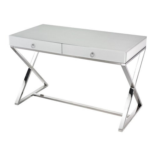 White Glass Desk
