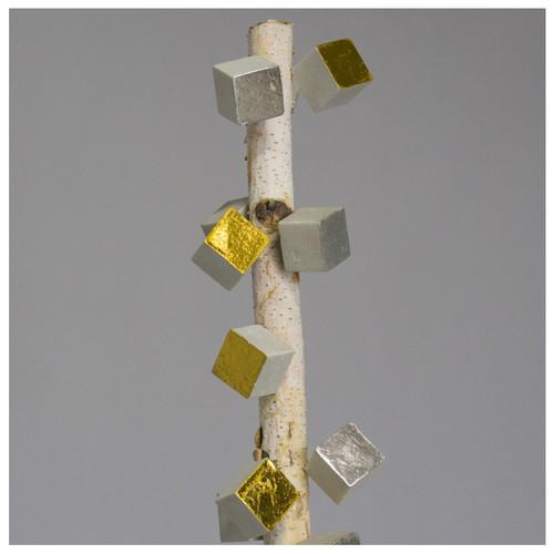 Birch Pole with Cube Pivot Wall Play - Set of 2