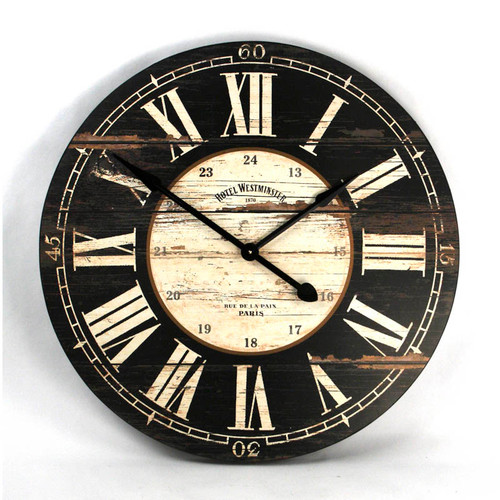 Black Wooden Clock