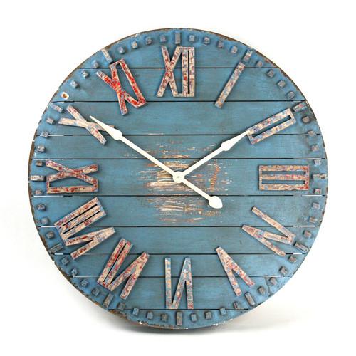 Verdigris Wooden Clock