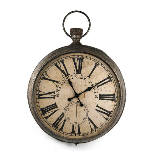 Antique Rust Pocket Watch Clock