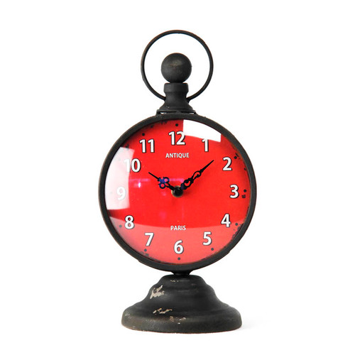 Red Face Desk Clock