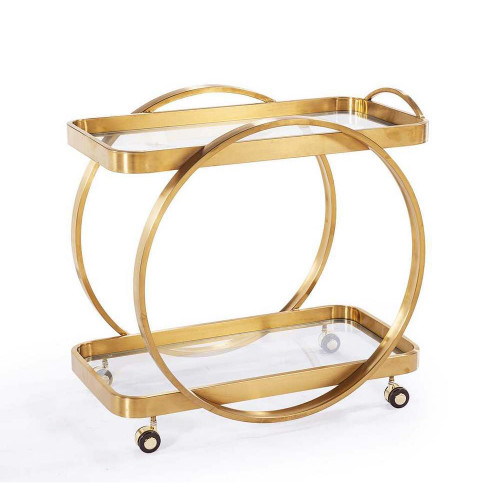 Connery Bar Cart - Antique Gold