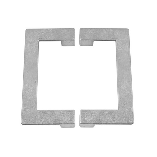 Braxton Two Piece Hardware Set In Silver Leaf