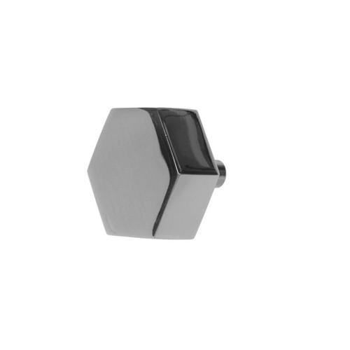 Hex Hexagon Shaped Pull In Nickel Finish