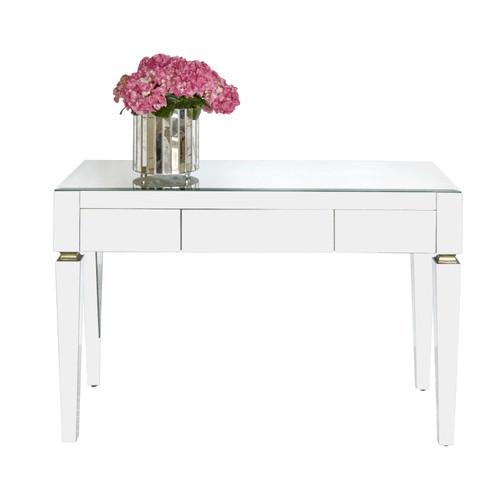 Jacklyn Beveled Mirror 3 Drawer Desk