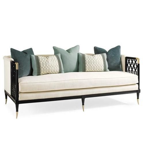 Lattice Entertain You - Bench Seat Sofa with Lattice Accents
