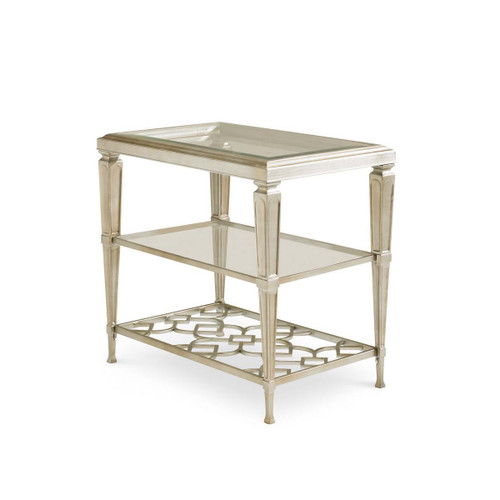 Social Connections - Three Shelf Side Table with Glass Top