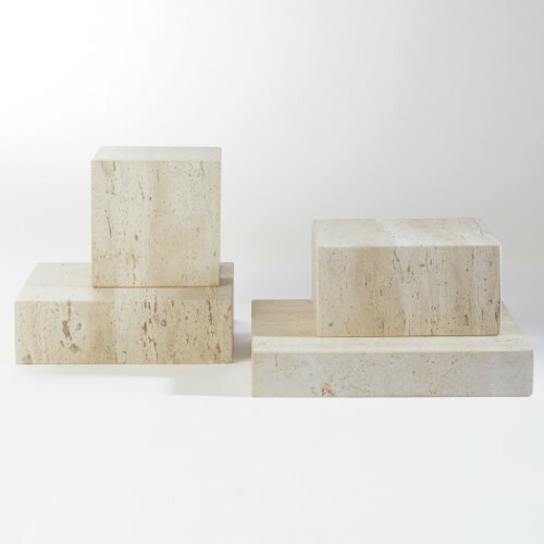 Travertine Cube Riser - Sm
