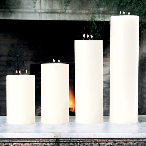 """3 Wick Pillar Candle - Unscented - 5""""x10"""""""