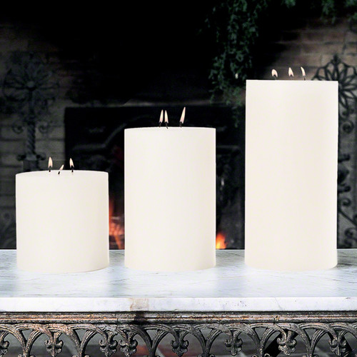 """3 Wick Pillar Candle - Unscented - 6""""x9"""""""