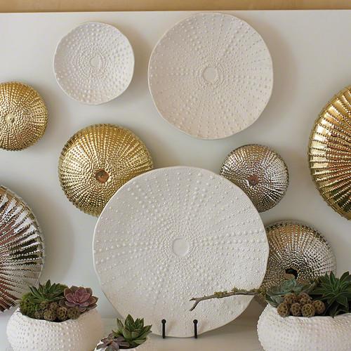 Ceramic Urchin Platter - Matte White - Lg