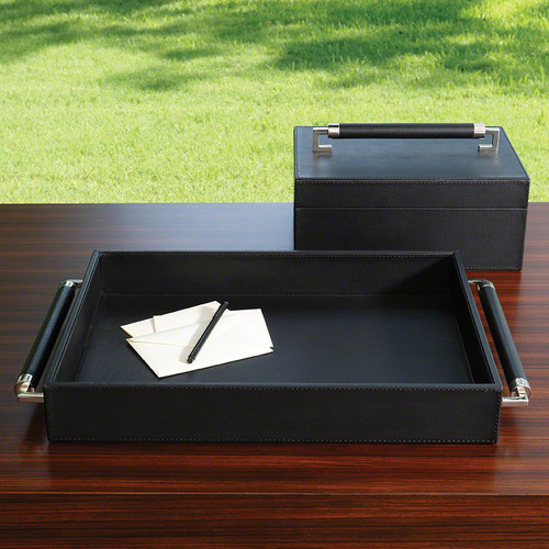 Double Handle Serving Tray - Black
