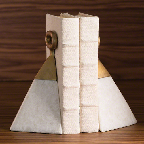 Equestrian Marble Bookends