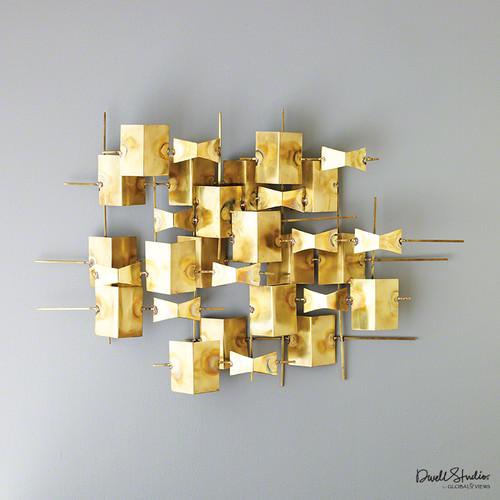 Folded Brass Wall Decor