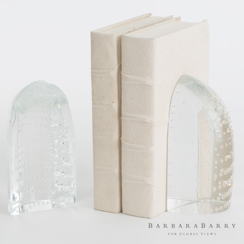 Iceberg Bookends - Dewdrop Clear - Pair