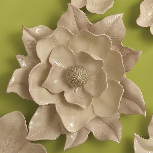 Magnolia Wall Flower - Ivory