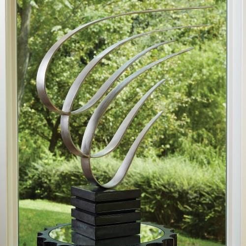 Swoosh Sculpture - Nickel
