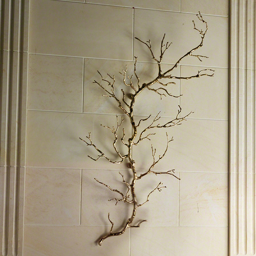 Twig Wall Art - Brass