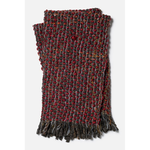 Loloi Rosa Throw T0008 Red / Brown