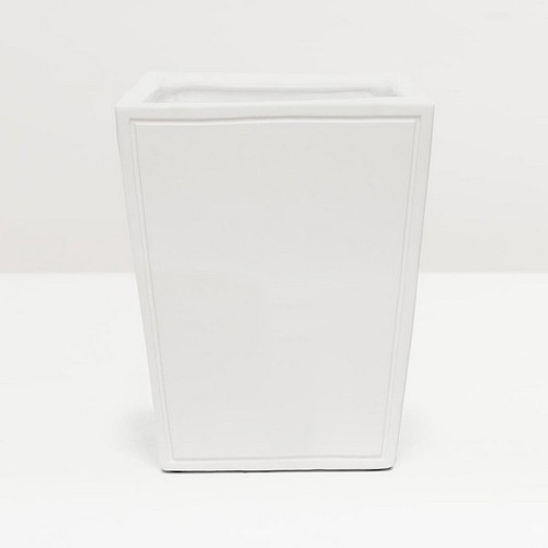 Pigeon & Poodle Finley Waste Basket - White