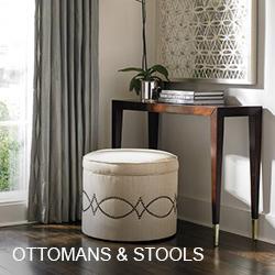 Caracole Ottomans, Stools, & Poufs